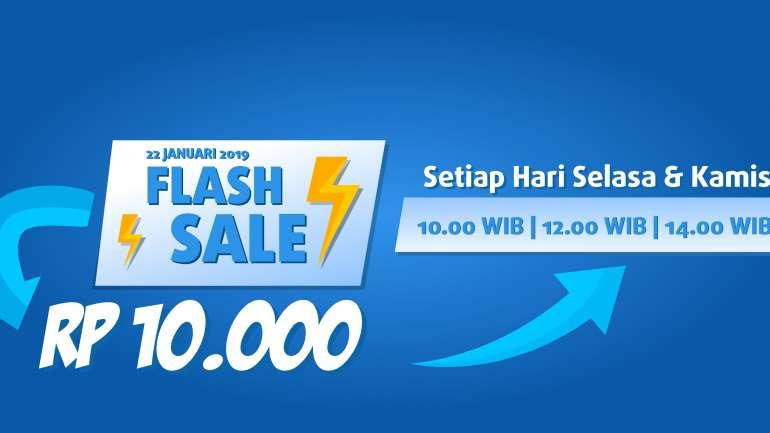 Flash Sale Seru Harga Mulai Rp 10.000, Ikutan Yuk!!